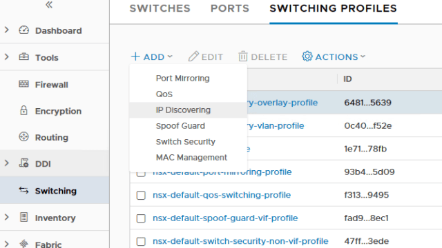Create Switching Profile