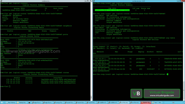 Validating the Distributed Router component on ESXi and KVM hosts