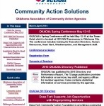 Community Action Solutions - OKACAA Newsletter – March-April 2015
