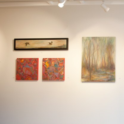 Paintings by Barbara Gamble, Installation View at Sivarulrasa Gallery