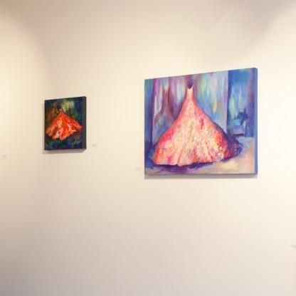 Paintings by Galye Kells, Installation View at Sivarulrasa Gallery in Almonte, Ontario