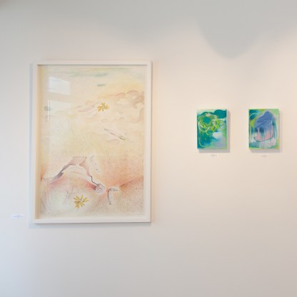 Drawings by Jane Irwin at Sivarulrasa Gallery, Almonte, Ontario