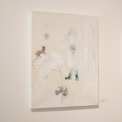 Painting by Michael Pittman, Installation View at Sivarulrasa Gallery in Almonte, Ontario