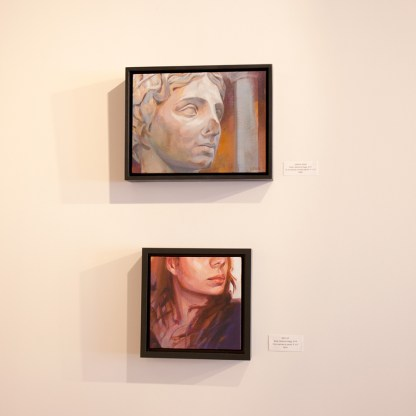 Paintings by Adrienne Dagg, Installation View at Sivarulrasa Gallery in Almonte, Ontario