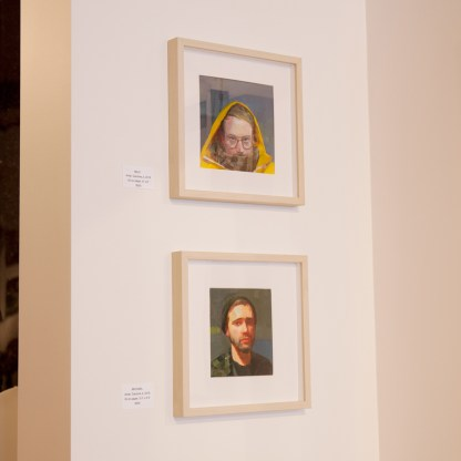 Paintings by Caroline Ji, Installation View at Sivarulrasa Gallery in Almonte, Ontario