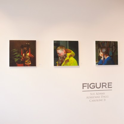 Paintings by Caroline Ji, Installation View at Sivarulrasa Gallery in Almonte, Ontario