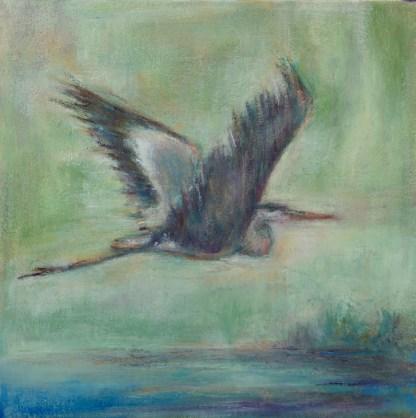 Painting by Barbara Gambe at Sivarulrasa Gallery