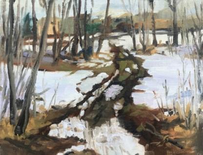 Painting by Karen Haines at Sivarulrasa Gallery