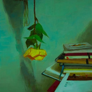 Painting by Caroline Ji at Sivarulrasa Gallery