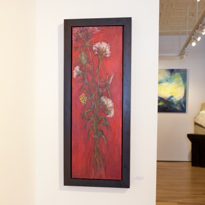 Painting by Barbara Gamble, Installation View at Sivarulrasa Gallery