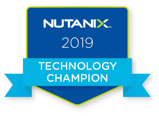 Nutanix Technology Champion 2019