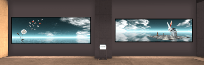 The DiXMiX Art gallery in Second Life®