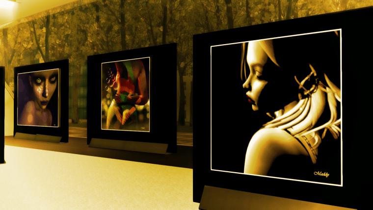 Luci e sculture in Second Life®