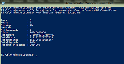 Using Performance Counter with PowerShell to Extract Server Uptime