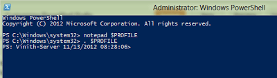 Customizing PowerShell Prompt via $Profile