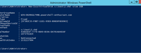 Convert a Windows Server 2012 Server to iSCSI Target Server