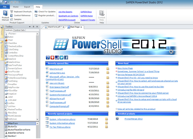Building GUI for PowerShell Scripts using PowerShell Studio 2012