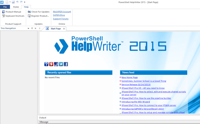 Getting started with Sapien PowerShell Help Writer 2015.