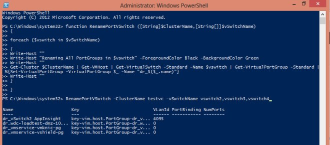 Rename vswitch portgroups with PowerCli
