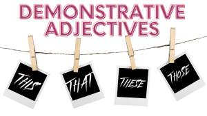 Demonstrative Adjectives Course