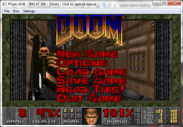 PCem running DooM