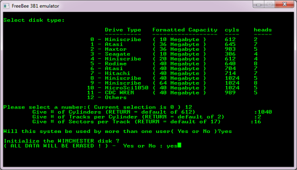Format the disk from the diagnostics floppy