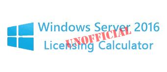 Windows Server 2016 Licensing Calculator - VirtuallyInclined com