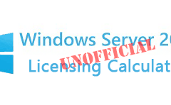 Windows Server 2016 Licensing Calculator