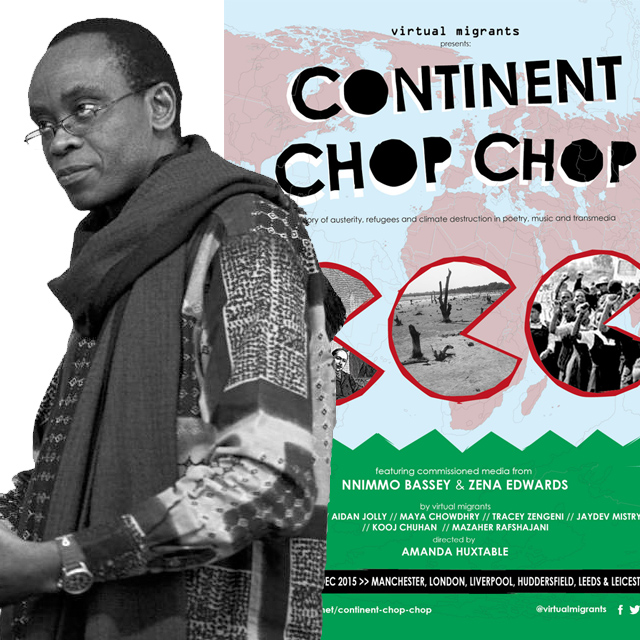 Pic of Nnimmo Bassey for the Continent Chop Chop production and the interview and poetry by Nnimmo Bassey
