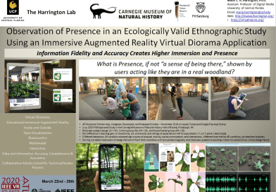 Observation of Presence in an Ecologically Valid Ethnographic Study Using an Immersive Augmented Reality Virtual Diorama Application