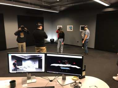 The shared AR environment can be viewed from the desktop in realtime