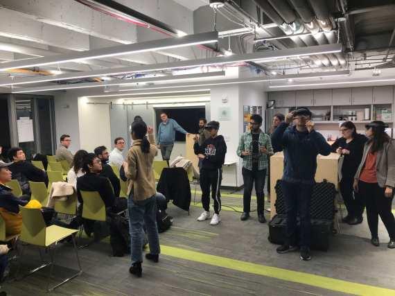 Fossett Lab demoing at the Skandalaris Center for Interdisciplinary Innovation and Entrepreneurship at WashU, Feb 2019