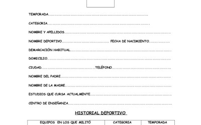 FICHAS DE EVOLUCION DE DEPORTISTAS O ESTUDIANTES