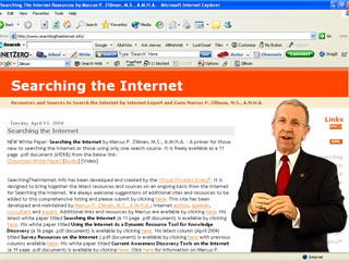 View Marcus P. Zillman, M.S., A.M.H.A. presenting Searching the Internet Streaming Video by clicking here