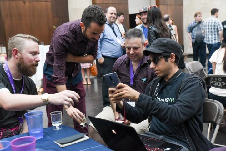 Jonah Brotman, Elli Raynai meet the Janus developers at VRTO 2017
