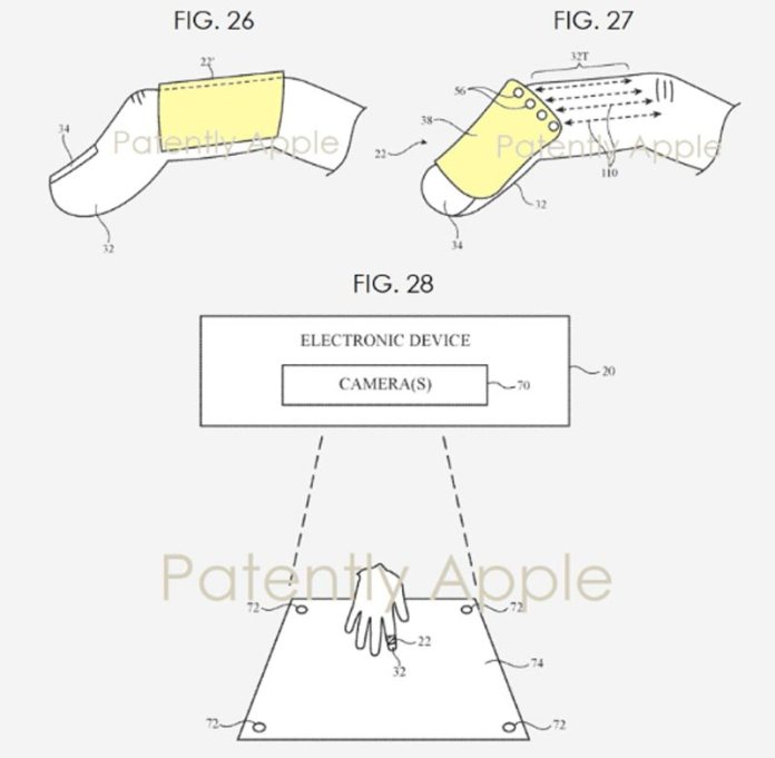 The Apple tracking attachment for the fingers is intended to provide haptic feedback