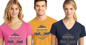 The Race to Promontory shirt design