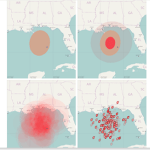 Uncertainty Visualizations of Hurricane Forecasts
