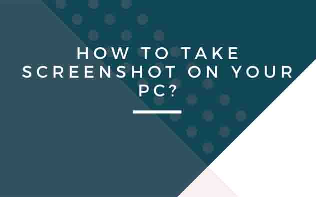 How to take a screenshot on PC
