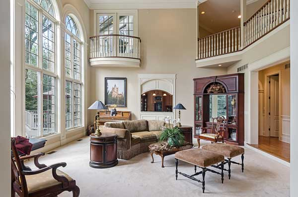 premium hd photography of a family room in a large home.