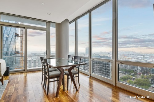 Condo with large windows downtown Chicago