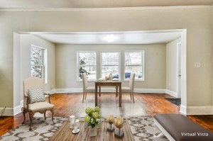 dining room virtually staged with furniture