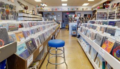 Blue Village Vinyl Record Shop 3D Model