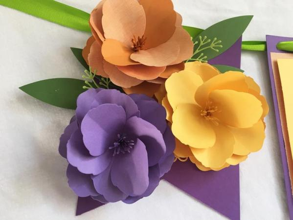 paper flower, art, zoom, video conferencing