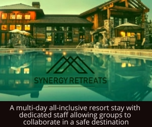Retreat, small meeting, incentive safe, secure