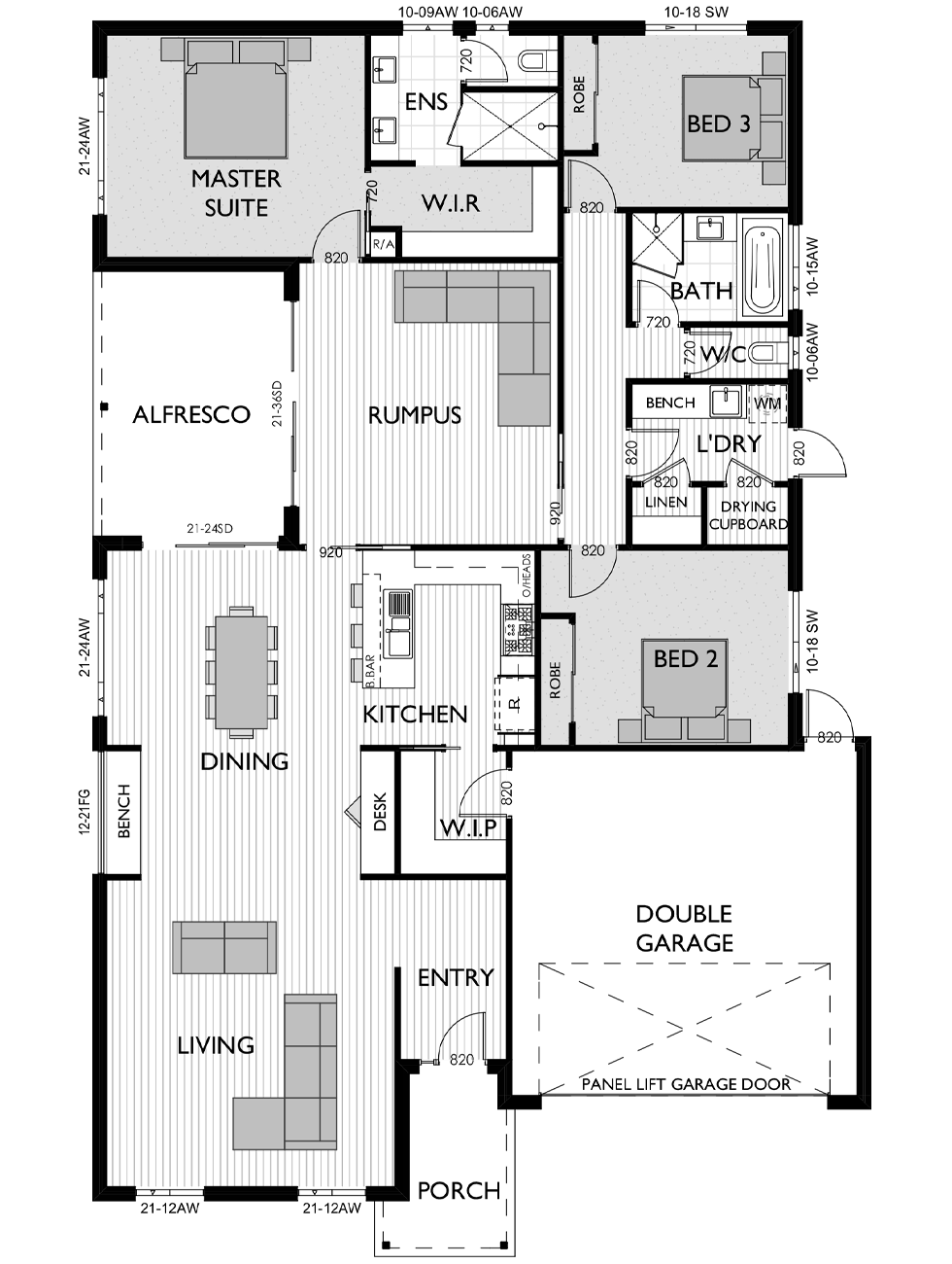 Floor Plan for Virtue Homes Saville 27 family home