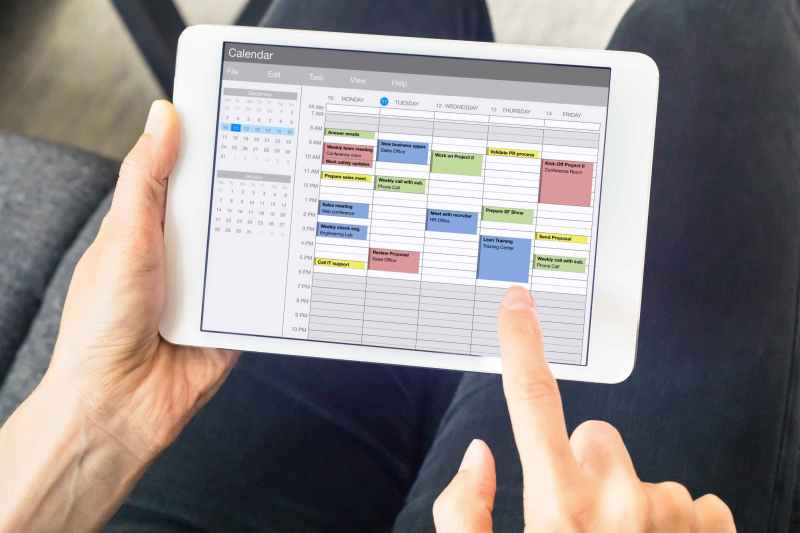 Scheduling an appointment on the ipad.