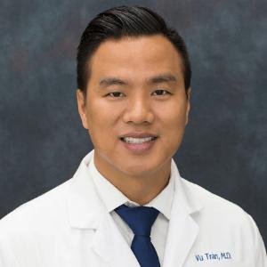 Asian male doctor named Vu Tran, MD.