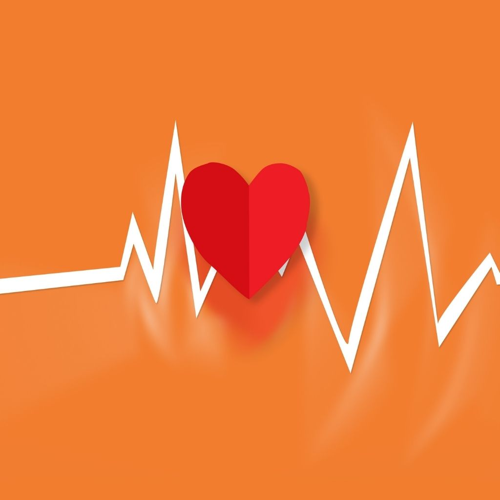 Heart and trend line animation