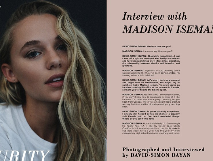 Interview with Madison Iseman | VGXW Magazine @ virtuogenix.online